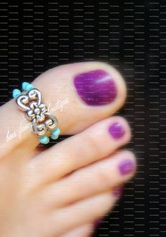 Sterling Silver Antiqued w//Pink Synthetic CZ Toe Ring