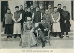 Lady Susan Townley and her staff in Beijing - Our Chinese Household, Peking 1900