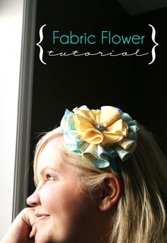 The House of Smiths - Home DIY Blog - Interior Decorating Blog - Decorating on a Budget Blog...another fabric flower