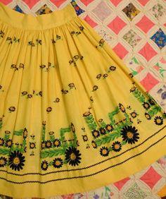 Daisy Tractor Novelty Print Skirt