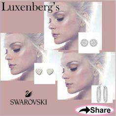 Swarovski Silver Crystal designer earrings.  Amazing looks starting at only $49. Luxenberg's... We want to be your Jeweler!  www.luxenbergs.com