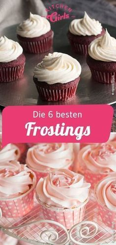 Recipes for frosting for cakes and cupcakes - Kuchen Rezepte Cupcake Toppings, Cupcake Frosting, Cupcake Cakes, Buttercreme Frosting, Creme Cupcake, Lemon Buttercream, Easy Cupcake Recipes, Donut Recipes, Cookie Recipes