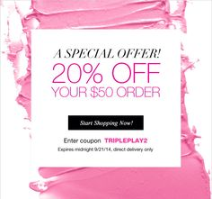 Save 20% on a $50 order on my online store at www.youravon.con/jessroberts