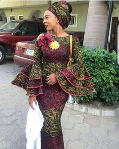 Here are latest long gown styles of 2018 Long dresses are no doubt becoming more fashionable these days. They fit very well almost on all body shapes, you can't just get enough of these different long gown styles Latest African Fashion Dresses, African Dresses For Women, African Print Dresses, African Print Fashion, Africa Fashion, African Attire, African Wear, African Women, Ankara Fashion
