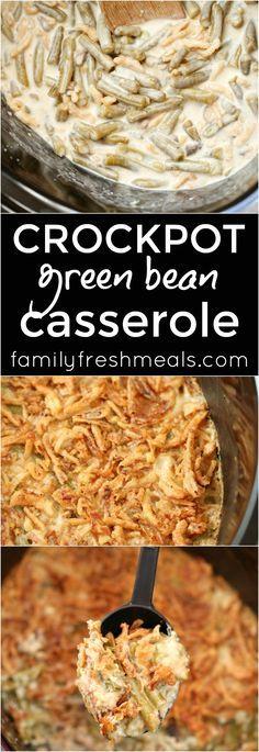 Crockpot Green Bean Casserole Recipe