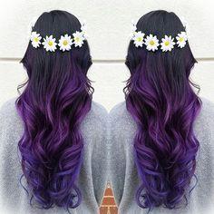 Violet Ombré! ⚓️ Hair by: @homunculus_13 At: @haircutteryharbourpointe  #mermaidians