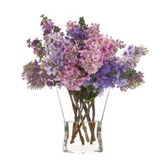 Faux lilac and lavender arrangement from Natural Decorations, Inc. Again ridiculous...$195 for some fake flowers...must go to Michaels and see if I can mimic these arrangements