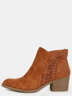 Online shopping for Cut Out Boho Ankle Boots COGNAC from a great selection of women's fashion clothing & more at MakeMeChic.COM.