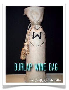 We Tried It! DIY Burlap Wine Bags! #gifting