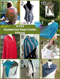 10 Free Asymmetrical Shape Crochet Patterns.