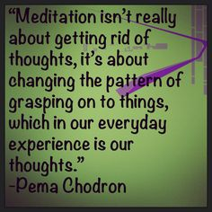 I need to meditate more