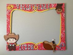 cowboy party frame