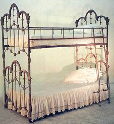 Wrought iron bunk bed, ca. 1880