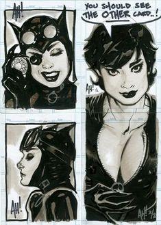 Catwoman art by Adam Hughes Batman DC Comics Comic Book Artists, Comic Book Characters, Comic Book Heroes, Comic Artist, Comic Books Art, Catwoman Comic, Catwoman Cosplay, Batman And Catwoman, Gotham City