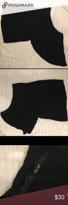 Lulus Black One Shoulder Dress Lulus Black One Shoulder Dress  - Great Beach Mini / Cover Up Lulu's Dresses One Shoulder