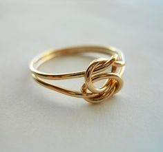 Love Knot 14K Gold Filled Ring by StreetBauble on Etsy, $29.00