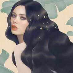 Digital painting by Hsiao-Ron Cheng for L'oreal Paris.