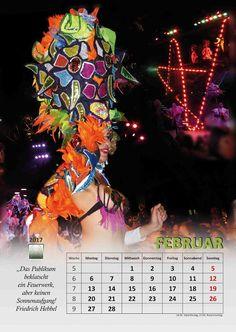 Selbstgemachtes und Kreatives: Kalenderblatt 2017 Februar