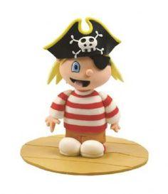 Pirate Boy Claydough Cake Topper Decoration