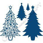 Tattered Lace Christmas Trees Decorative Detail Die