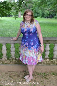 Watercolor Pastel Plus Size Dress plus size womens dress Plus size blogger Sherry Aikens OOTD