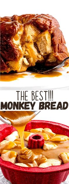 This amazing Monkey Bread is soft, buttery, and coated with sweet cinnamon-sugar. Refrigerated biscuit dough makes it easier than ever! Best Dessert Recipes, Easy Desserts, Delicious Desserts, Yummy Food, Yummy Recipes, Breakfast Items, Breakfast Recipes, Muffin Recipes, Bread Recipes