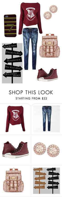 """""""Harry Potter: 7 Potter"""" by maddi-may71 ❤ liked on Polyvore featuring American Eagle Outfitters, Converse, Givenchy and Juicy Couture"""