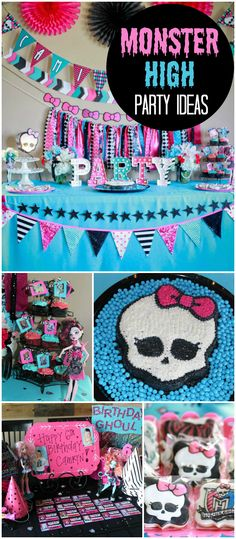 Check out this freaky fabulous Monster High party! See more party ideas at CatchMyParty.com!
