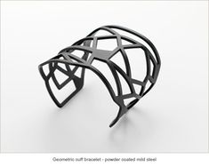 Resinate contemporary Australian jewellery, Geometric cuff bracelet