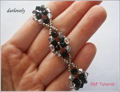 Classy Black Crystal Flower Bracelet BB032 PDF by darlovely