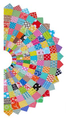 Red Pepper Quilts: Giant Scrappy Dresden Plate Block and Tutorial