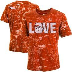 Denver Broncos Youth Girls Burnout T-Shirt - Orange