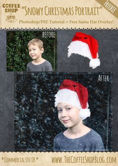 "The CoffeeShop Blog: CoffeeShop ""Snowy Christmas Portrait"" Photoshop Tu..."