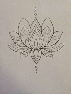 lotus zentangle doodle line drawing Lotusblume Tattoo, Piercing Tattoo, Tattoo Drawings, Sternum Tattoo, Tattoo Shop, Tattoo Thigh, Art Drawings, Spider Tattoo, Simple Drawings