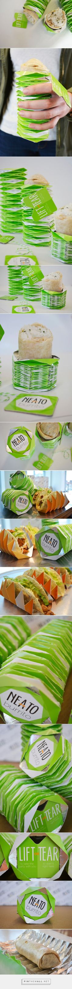 Neato #Burrito #concept #packaging designed by Kelsey Byrd, Haley Ellis, Marcus Mrazeck, Elizabeth Sweeney - http://www.packagingoftheworld.com/2015/04/neato-burrito-student-project.html                                                                                                                                                                                 Más