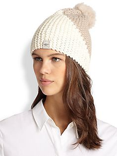68c696e166c Ugg - Cambridge Lamb Shearling Pom-Pom Knit Hat