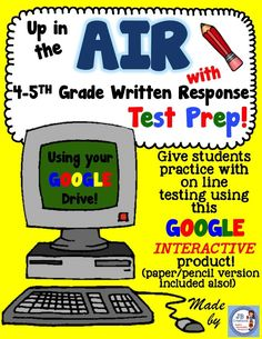 Use your Google Drive to enhance your 4th and 5th grade students' written response preparation for state testing!  I've provided links to 9 text passages and 3 written response prompts  to share with students on their devices to mimic the computer based testing experience! Rubrics included! https://www.teacherspayteachers.com/Product/Google-Interactive-AIR-Test-Prep-for-Writing-Performance-Based-Prompts-4th-5th-2354766