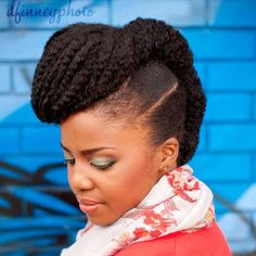 This is a neat style for thick hair.