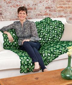 Red Heart® 4 Leaf Clover Throw - want to make this from A.C.Moore!