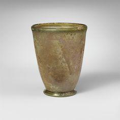 Glass beaker  Period:     Mid Imperial Date:     2nd–3rd century A.D. Culture:     Roman