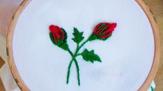 Hello! Today we are making Rosebuds (bar blanket stitch). Don't forget to like, share and subscribe! I made the rosebuds with double strands of DMC embroider...
