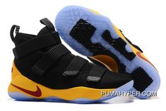0df98e04c1742d 2017 Nike LeBron Soldier 11 Black Yellow Wine Red Best