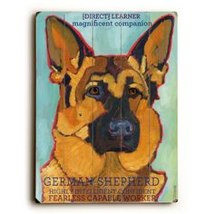 Artehouse LLC German Shepherd Wood Sign