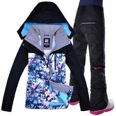 GSOU SNOW Ski Jacket Pants Winter Outdoor Skiing Snowboard Suit Set Jacket  Pants Snow Clothes Brand 58d8655e7