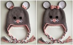 By Jenni Designs: Crochet Mouse Hat Pattern