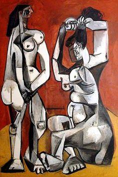 Pablo Picasso - Femmes à la toilette, 1956.