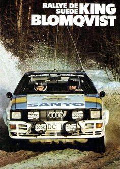 -The Four Legendary AUDI Drivers- STIG BLOMQVIST in the 1982 AUDI UR-QUATTRO at WRC Sweden