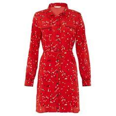 Red Pixel shirt dress at debenhams.com