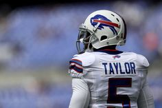 Quarterback Tyrod Taylor #5 of the Buffalo Bills during warm ups before a game at M&T Bank Stadium on Sept. 11, 2016 in Baltimore.