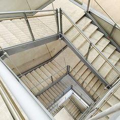 New Whitney Museum / stairwell New York by Renzo Piano